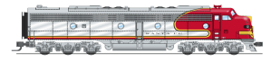 Broadway Limited 3615 N Scale EMD E8 A-Unit ATSF #84L P3 Sound/DC/DCC