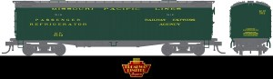 Broadway Limited 1859 HO Missouri Pacific MP 53'6″ Reefer ~ 2 Pack