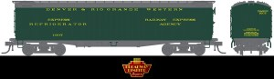 Broadway Limited 1827 HO Denver & Rio Grande 53'6″ Wood Express Reefer #1607