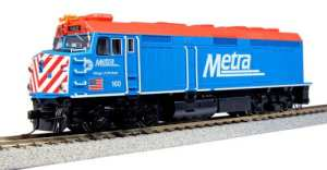 Kato HO Chicago Metra EMD F40PH Commuter Version ~ Winfield DC #160 376572