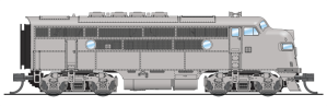 Broadway Limited 3498 N Scale EMD F3A Unpainted Undecorated P3 Sound/DC/DCC