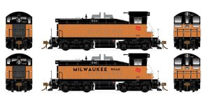 Rapido HO SW1200 Milwaukee Road #638 Type A Trucks DC 27035