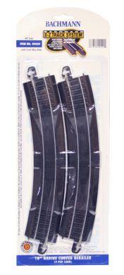 Bachmann E-Z Track Black/Silver 18″ Radius Curved ReRailer 2 Pcs
