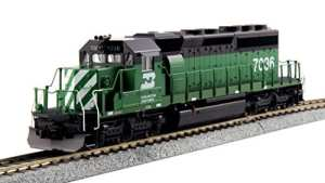 Kato HO EMD #7036 SD40-2 Mid Burlington Northern DCC Ready 37-6604
