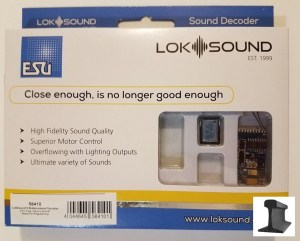 ESU 58410 LokSound V5.0 DCC/MM/SX/M4 ~ Blank Decoder ~ 8 Pin ~ With Sugar Cube Speaker