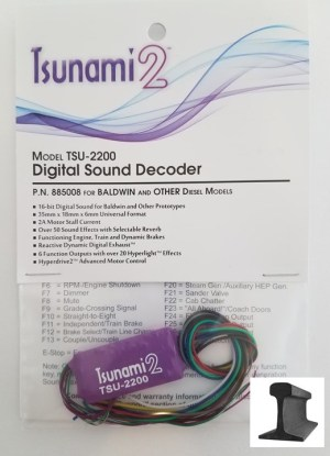 Soundtraxx Tsunami 2 ~ TSU-2200 Baldwin & Other Diesel Sounds 885008