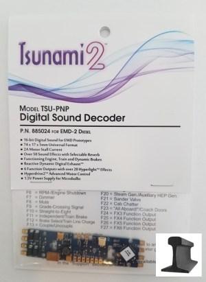 Soundtraxx Tsunami 2 TSU-PNP EMD – 2 ~ Sound Decoder ~ 885024