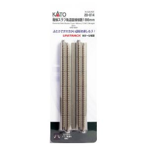 Kato N UniTrack 186mm 7 5/16″ Concrete Slab Straight Track (2 pcs) 20-014