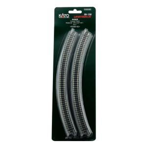 Kato N UniTrack 348mm 13 3/4″ Radius 45º Curve Track (4 pcs) 20-132