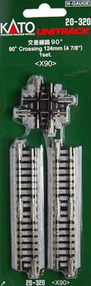 Kato N UniTrack 90° Crossing 124mm 4 7/8″ X90 (1 pc) 20-320