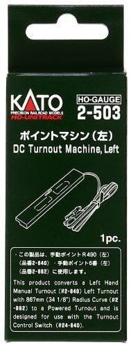 Kato HO UniTrack DC Turnout Machine Left Hand (1 pc) 2-503
