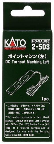 Kato HO UniTrack DC Turnout Machine Left Hand (1 pc) 2-503