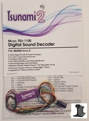 Soundtraxx Tsunami 2 ~ TSU-1100 Steam-2 Sound Decoder ~ 884006