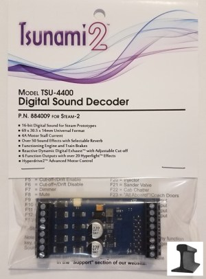 Soundtraxx Tsunami 2 ~ TSU-4400 (Steam-2) DCC Sound Decoder 4 Amp ~ 884009