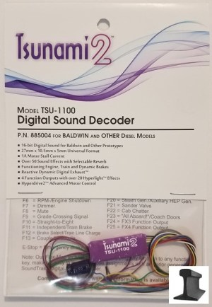 Soundtraxx Tsunami 2 ~ TSU-1100 Baldwin & Other Diesel Sound Decoder ~ 885004