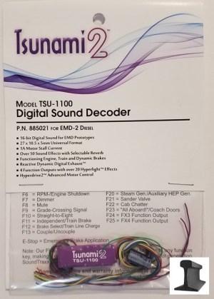 Soundtraxx Tsunami 2 ~ TSU-1100 EMD-2 Diesel Sound Decoder ~ 885021