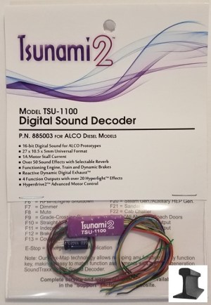 Soundtraxx Tsunami 2 ~ TSU-1100 ALCO Diesel Sound Decoder ~ 885003