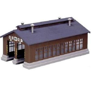 Kato N Scale UniTrack 2-Stall Wooden Engine House Kit 23-225