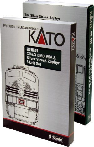 Kato N Chicago Burlington & Quincy CB&Q EMD E5A Silver Streak Zephyr 6pcs 106090