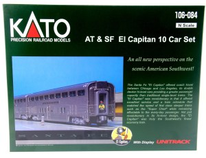 "Kato N Santa Fe ""El Capitan"" 10 Car Set With UniTrack 106082"