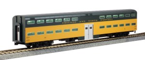 Kato HO Scale C&NW Pullman Bi-Level 46Window Coach #184 35-6043