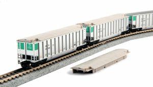 Kato N Scale SBTX Bethgon Protein Gondola 8-Car Set #1 1064652