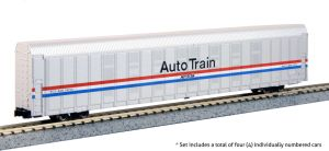 Kato N Scale Autorack Auto Train Amtrak Phase III ~ 4 Car Set #2 1065508