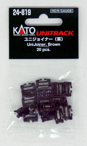 Kato HO / N Scale UniTrack UniJoiners Brown (20 pcs) 24-819