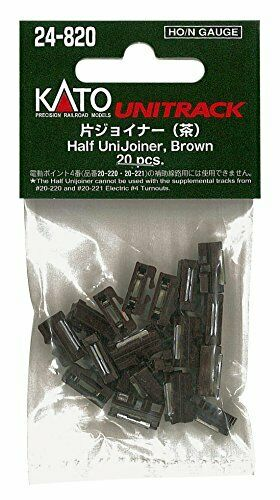 Kato HO / N Scale UniTrack Half UniJoiners Brown (20 pcs) 24-820