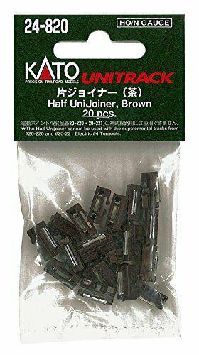 Kato HO / N Scale UniTrack Half UniJoiners Brown (20 pcs) 24-820