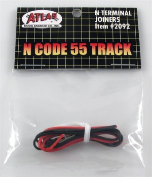 Atlas N Scale Code 55 Track Terminal Rail Joiners 1 Pair Per Pack 2092