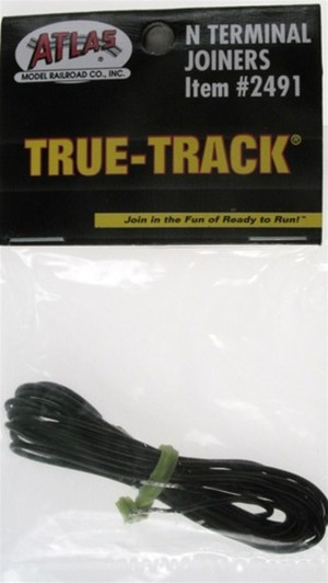 Atlas N Scale Code 65 True-Track Terminal Rail Joiners (1 pair) 2491