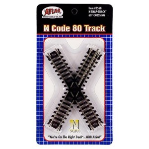 Atlas N Scale Code 80 Track 60 Degree Crossing 2568