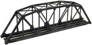 Atlas N Scale Code 80 Through Truss Bridge Kit 10″ Black 2570