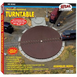 Atlas HO 21 Track Manual Turntable 305