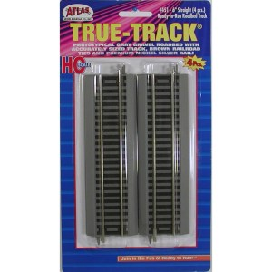 Atlas HO True Track 6″ Straight (4 pcs) 451