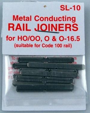 Peco HO SL Code 100 Metal Rail Joiners (24 pcs) SL-10