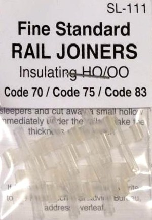 Peco Code 70, 75 & 83 Insulated Rail Joiners (12 pcs) SL-111