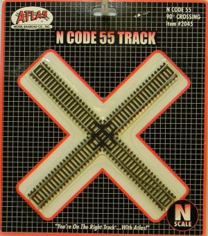 Atlas N Scale Code 55 Track 90 Degree Crossing 2045