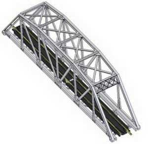 Atlas N Scale Code 80 Through Truss Bridge Kit 10″ Silver 2571