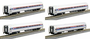 Kato N Scale Amtrak Amfleet Phase I Bookcase (4 pcs) 1068011