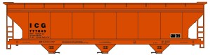 Accurail HO Illinois Central Gulf 3 Bay Hopper #20742