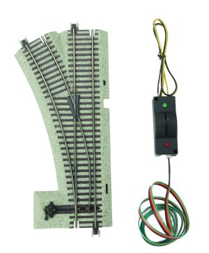 MTH S Gauge #3 Remote Control Switch Turnout Left Hand 35-1019