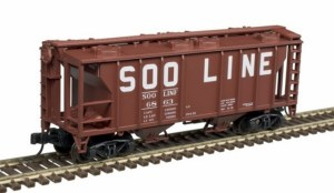 Atlas N Scale Trainman PS-2 Covered Hopper ~ SOO #6845 50004176