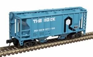 Atlas N Scale Trainman PS-2 Covered Hopper Rock Island #507100 50004191