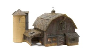Woodland Scenics HO Rustic Barn Kit PF5190