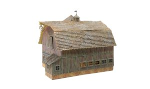 Woodland Scenics HO Built and Ready Old Weathered Barn BR5038
