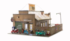 Woodland Scenics HO Built and Ready Deuce's Bike Shop BR5045