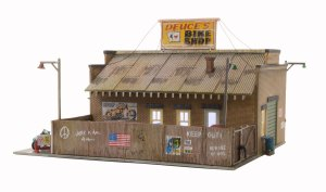 Woodland Scenics HO Built and Ready Deuce's Bike Shop BR5045