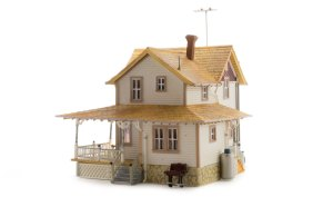Woodland Scenics HO Built and Ready Corner Porch House BR5046